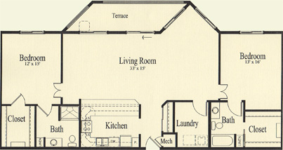Oak (1,542 sq), 2 Bedroom, 2 Bath