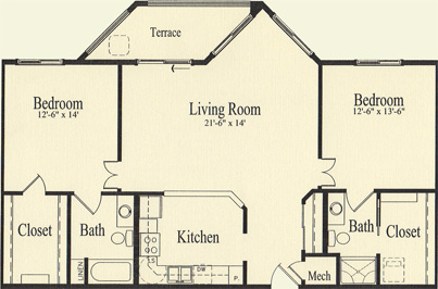 Hawthorn (1,247 sq), 2 Bedrooms, 2 Bath