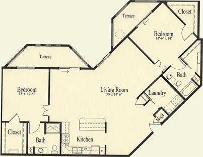 White Spruce (1,585 sq), 2 Bedroom, 2 Bath