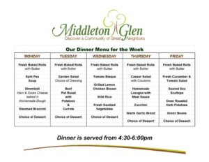 Dinner Menu MG